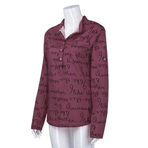 Camicia Hlhn Donna Red Hlhn Camicia Donna Wine Wine qZdIgPxw