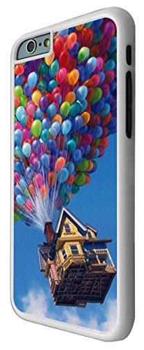 038 - Funky UP Flying house Balloons Design iphone 6 Plus / iphone 6 Plus 5.5'' Coque Fashion Trend Case Coque Protection Cover plastique et métal - Blanc