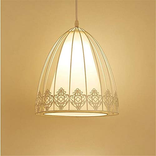 - Zykang Vintage Chandelierpendant Light Cloth Iron Lampshade Flower Personality Art Hanging Lamp Substances Rural Minimalist Suspension Decorative Lamps Lights E27 × 1 Max 40W Ø 26Cm