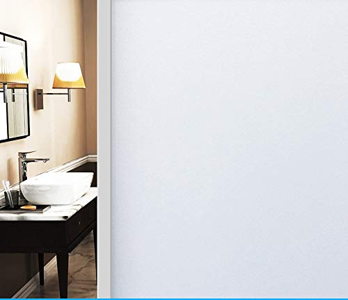 PP&DD Non-Adhesive Static Window Film,Privacy Opaque Office Bathroom Stickers Glass Stickers-b 60x900cm(24x354inch)