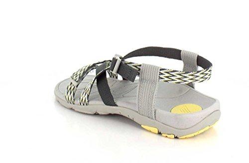 VIONIC Sabio mujer Dorrin gris / sandalia amarilla