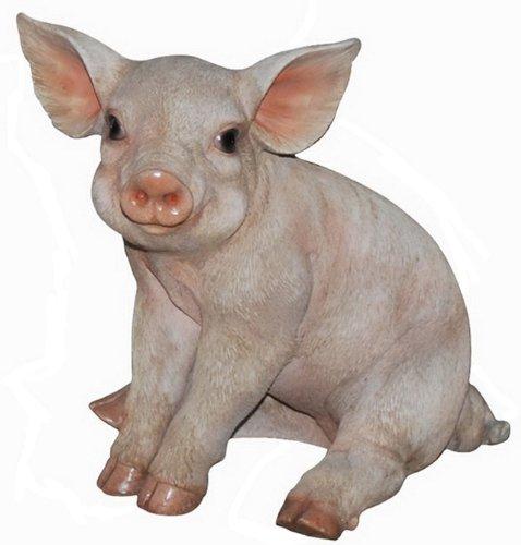 (Hi-Line Gift Ltd Pig Sitting Figurine, 9-Inch)