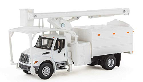 Walthers HO Scale International 4300 2-Axle Truck with Tree Trimmer Body White ()