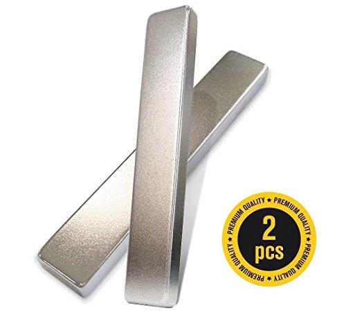 "X-bet MAGNET ™ - Neodymium Bar Magnets N45 Grade (Ndfeb) - 3"" x 1/2"" x 1/4"" - Rare Earth Block Magnets - 2 Pcs in Box"