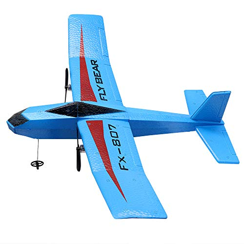 RC Plane Ready to Fly EPP Remote Control Airplane ,2.4GHz 2 Channels RTF RC Aircraft for Beginner Easy to Fly Blue RC Airplane