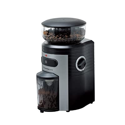 Espressione Professional Conical Burr Coffee Grinder, Black/Silver by Espressione