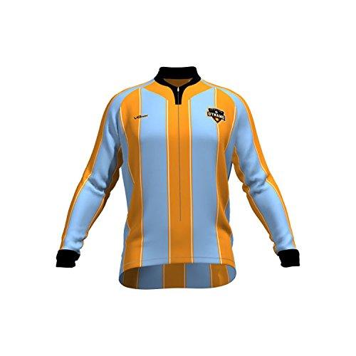VOmax MLS Houston Dynamo Men's Original Striped Long Sleeve Cycling Jersey, XX-Large, (Houston Cycling Jersey)