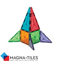 Magna-Tiles 15856 Clear Colors 56 Piece Set