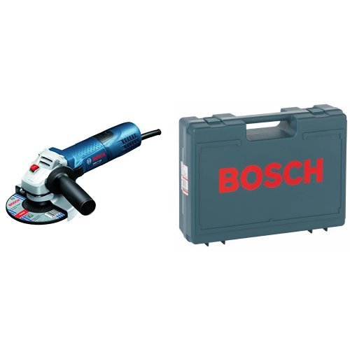Bosch GWS 7-125 - Amoladora angular (diá metro de 125 mm, 11000 rpm, 720 W, 1,9kg), color azul + 2 605 438 404 - Maletí n de transporte de 380 x 300 x 115 mm, color azul color azul + 2 605 438 404 - Maletín de transporte de 380 x 300 x 115 mm