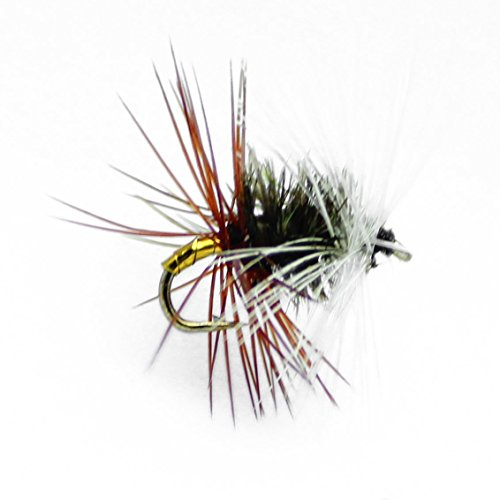 Feeder Creek Fly Fishing Flies Assortment - Renegade Dry Trout Flies - Hand Tied Attractor Pattern Sizes 12,14,16,18 - Sold by ()