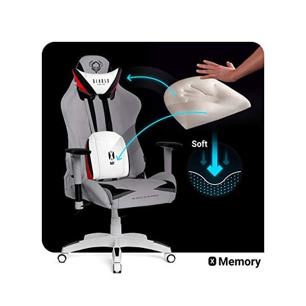 Diablo X-Ray Gaming Chaise Fauteuil Gamer Accoudoirs 4D Design Ergonomique Skaï Perforation Fonction d'inclinaison…