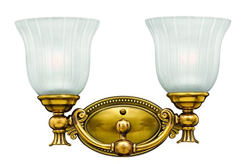 Hinkley Brass Light Fixture (Hinkley 5582BB Traditional Two Light Bath from Francoise collection in Brassfinish,)