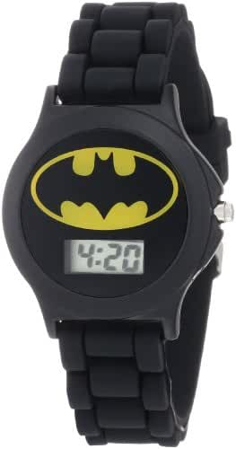 Batman Kids' BAT4072 Black Rubber Batman Logo Strap Watch