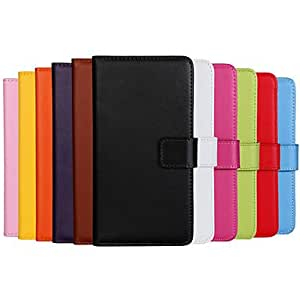 ZXC Solid color Stylish Genuine PU Leather Flip Cover Wallet Card Slot Case with Stand for iPhone 6 Plus(Assorted Colors) , Red