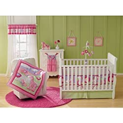 Garanimals - Girl 4-piece Crib Bedding Set, Butterfly Blossom