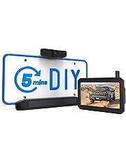 AUTO-VOX Solar Wireless Backup Camera, 5 Mins DIY Installation, 5 Inch HD Monitor with Digital Wireless Signal and HD Image Waterproof