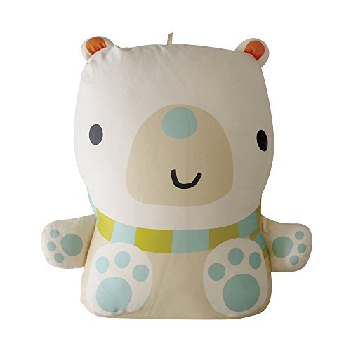 Rucooganic Animal Organic Cotton Baby Doll & Pillow 48cmX63cm Ben(Polar Bear) by Rucoorganic