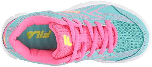 Pictures of Fila Girls' Star Runner Skate Shoe Aruba 3SR21036 Aruba Blue/Knockout Pink/Safety Yellow 2