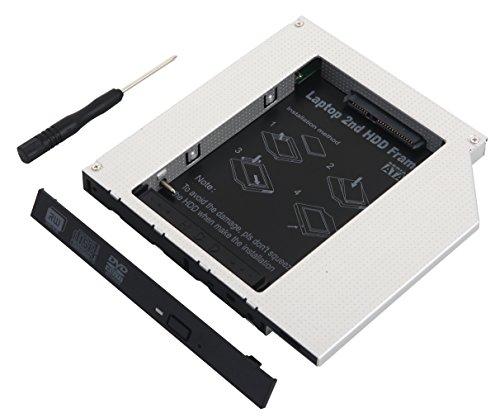 Deyoung 2do Disco Duro IDE a SATA optico Bay Caddy DE 12,7 mm para portatil Universal IDE CD/DVD-ROM