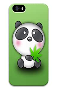 Brian114 5s Case, iPhone 5 5s Case - Fashion Style Cute Panda 8 3D PC Hard Cover Case for iPhone 5 5s
