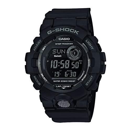 chollos oferta descuentos barato Casio G SHOCK Reloj Digital Contador de pasos Sensor de movimiento Aplicación de deporte gratuita para descargar 20 BAR Negro para Hombre GBD 800 1BER