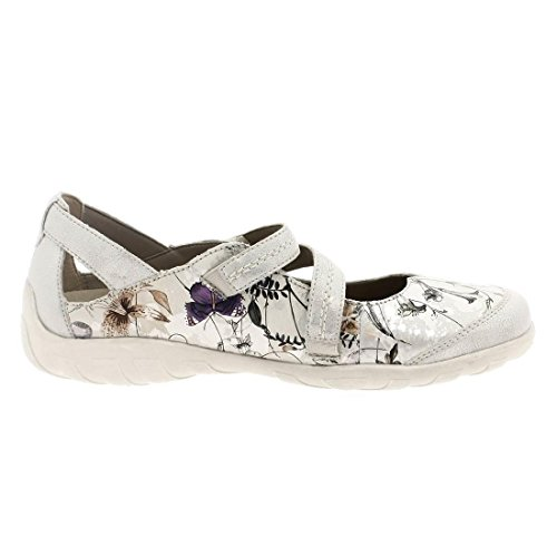 Remonte - Mocasines para mujer blanco White Floral White Floral