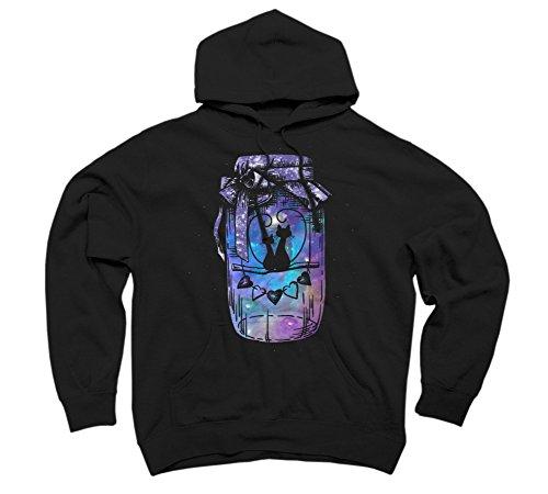 Space Love Jar Men's Medium Black Graphic Pullover Hoodie - Design By Humans