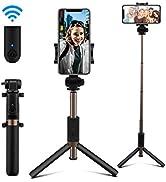 AFAITH Bastone Selfie Bluetooth, Estensibile Selfie Stick Treppiede con Telecomando Ricaricabile ...