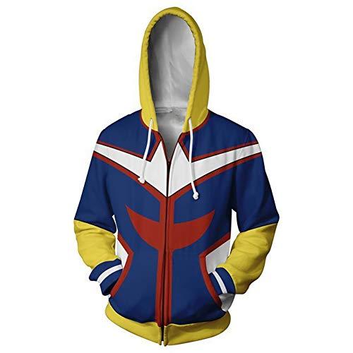 Broadmix Boku No Hero Academia Hoodie - 3D Print Hooded Sweatshirt Deku Cosplay Costume Izuku Midoriya Hooded Coat]()