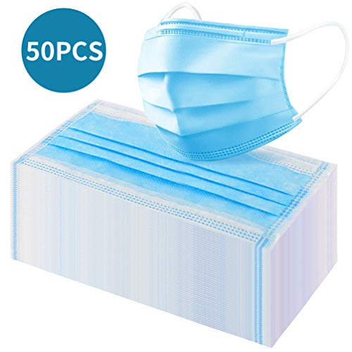 50 Pcs Filter, 3 Layers Replaceable Anti Haze Filters, Protective Mouth Filter for Outdoor (50 pcs)