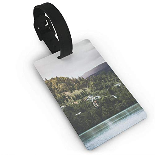 CuteToiletLidABC People On The Hills by The Lake Luggage ID Tags Carry On Cards Expression Luggage Tag Travel Card Bag Label Card Identity Card Baggage Tags PVC Size 2.2'' X 3.7'' ()