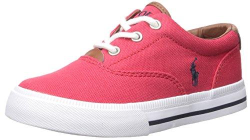 Ralph Lauren Sneakers Canvas - Polo Ralph Lauren Kids Vaughn Ii Sneaker, Red Canvas, 5.5 M US Big Kid