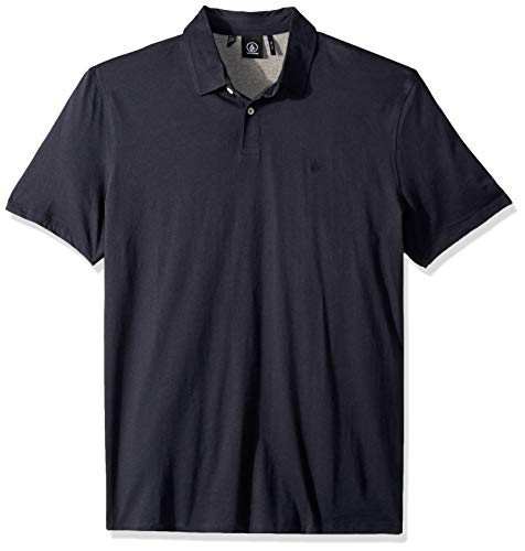 Volcom Men's Wowzer Polo Shirt, Navy, XX-Large