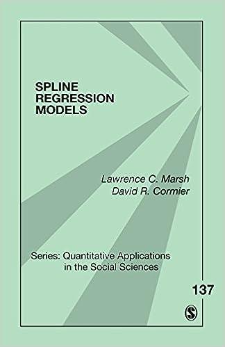 Spline Regression Models (Quantitative Applications in the