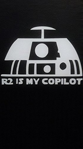 Star Wars Inspired R2D2 Copilot Droid Vinyl Decal Sticker|WHITE|Cars Trucks Vans SUV Laptops Wall Art|5.75