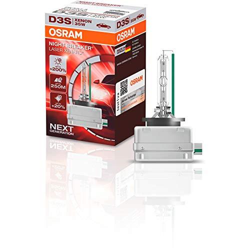 OSRAM XENARC NIGHT BREAKER LASER D3S, 200% more brightness, HID xenon bulb, discharge lamp, 66340XNL, folding box (1 lamp) ()