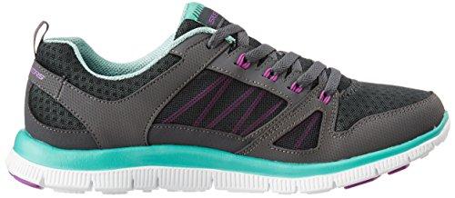Skechers 12055 / Ccaq Sneakers Femme Gris Tissu