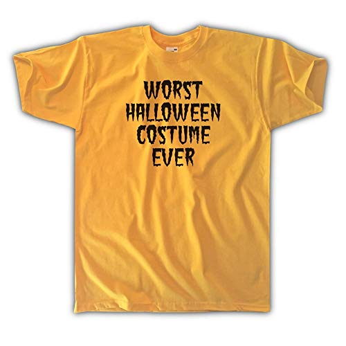 Outsider. Men's Unisex Worst Halloween Costume Ever T-Shirt - Yellow - X-Large ()
