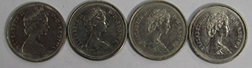 CA 1978 1979, 1985 & 1986 Lot of 4 Canadian 10 Cent Coins XFAU