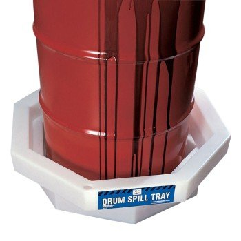 New Pig DRM369 LDPE Octagonal Drum Spill Tray, 19 Gallon Sump Capacity, 32-1/4
