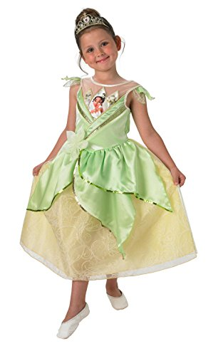 [DISNEY PRINCESS ~ Tiana (Shimmer) Deluxe - Kids Costume 7 - 8 years] (Princess Tiana Disney Costume)