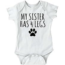 Sister 4 Leg Funny Shirt | Cute Dog Lover Pet Owner Baby Gift Romper Bodysuit