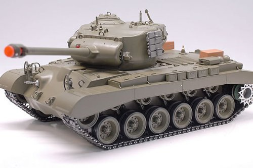 Snow Leopard M26 Pershing WWII RC Smoking & Sound 1/16 Radio Remote Control Airsoft Battle Tank ()
