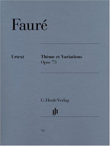 Theme et Variations Op 73. Klavier