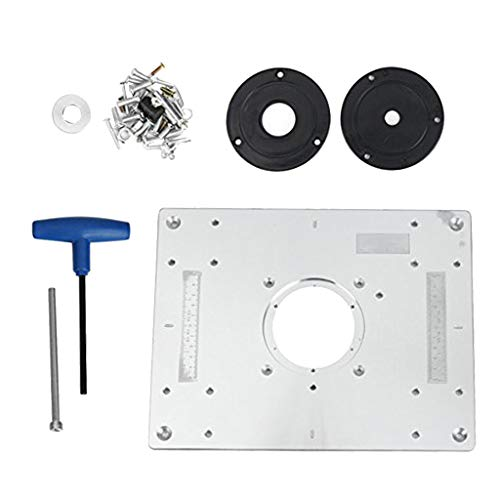 - B Blesiya Woodworking Router Table Insert Plate for Porter Cable 690 691 692 593, Made of Quality Aluminum Alloy, Very Durable in use