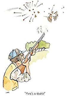 Clay pigeon shooting birthday cards choice image birthday cards ideas shooting birthday card amazon kitchen home mines a double a5 clay pigeon shooting greeting card with bookmarktalkfo Images