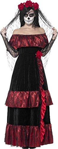 Halloween Uk Costumes Dead Bride (Day Of The Dead Bride Costume Black Uk Dress)