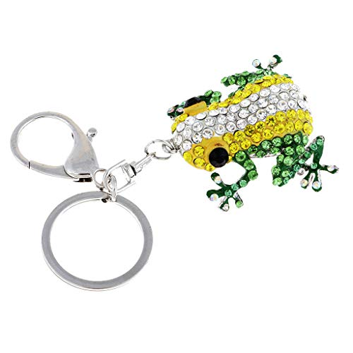 (NATFUR Fashion Frog Crystal Key Chain Rhinestone Key Ring Creative Jewelry Pendants Novelty for Men Perfect for Gift Beautiful Lovely Beauteous)