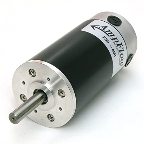 AmpFlow F30-400 Brushed Electric Motor, 12V, 24V or 36 VDC, 4800 rpm - 36 Volt Motor
