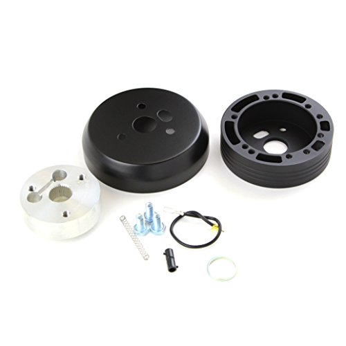 5 & 6 Hole Matte Black Hub Adapter Installation Kit For Aftermarket Steering Wheels